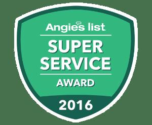 Angie's List Super Service Award Winner 2010-2015