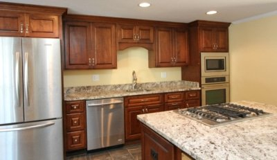 Alaska White granite kitchen