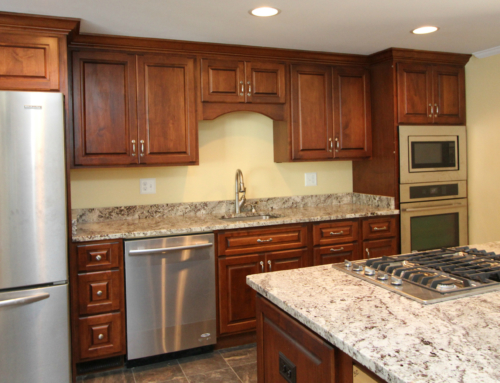 Lutherville Alaska White Granite Kitchen