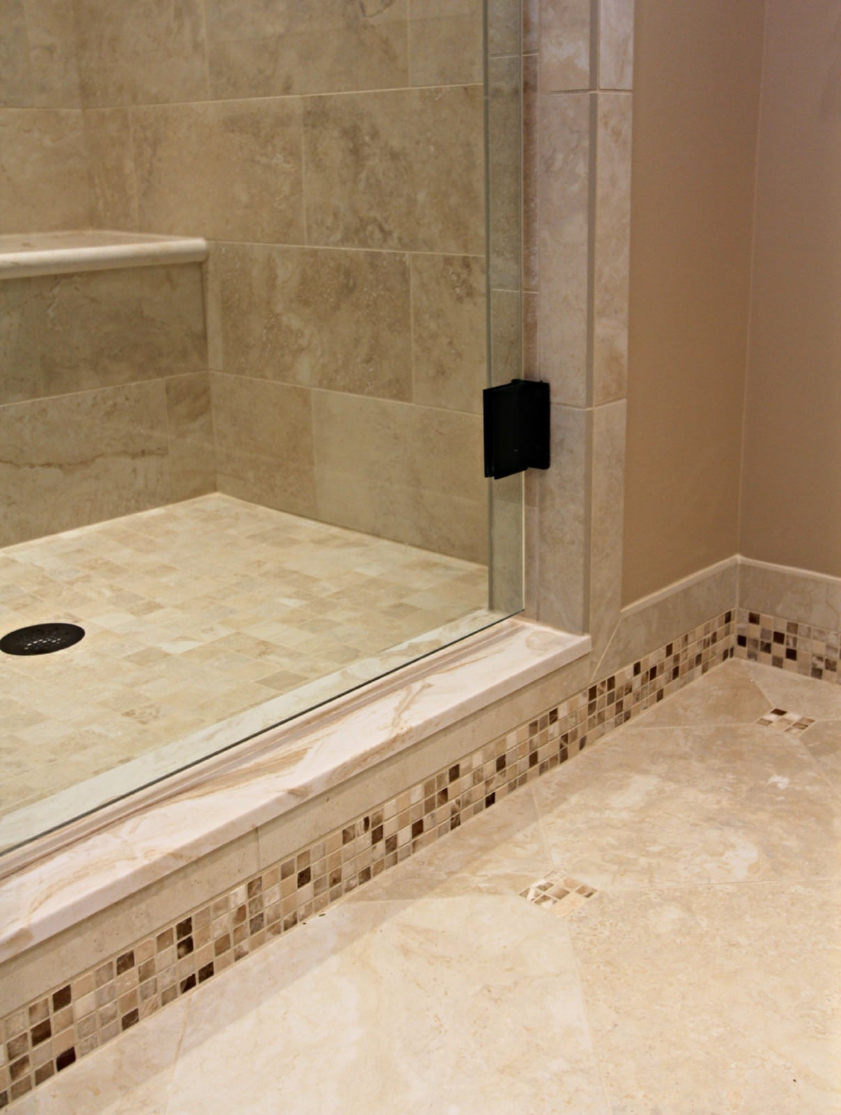 tile baseboard bathroom master bathroom remodel baldwin master bath with mosaic 14658