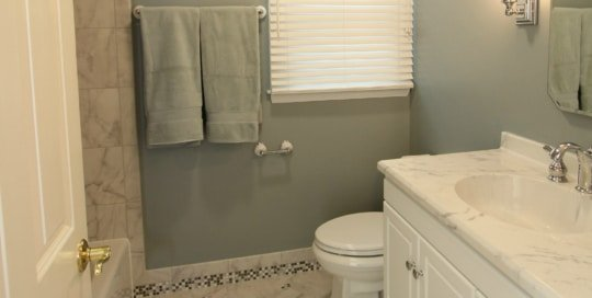 bathroom remodeling contractor maryland,Cool Toned Bath with Mosiac Custom Contracting,add bathroom,interior contractor baltimore,new bathroom shower contractor maryland,licensed bathroom contractors,add bathroom,Accessable senior bathroom,disabled veterans home,bathroom remodeling