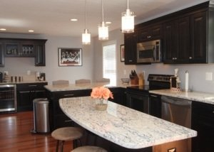 Traditional Home Kitchen Remodel in Espresso