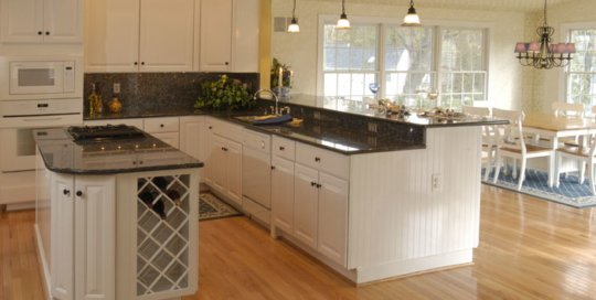 Screen Porch Remodeled into a Home Kitchen