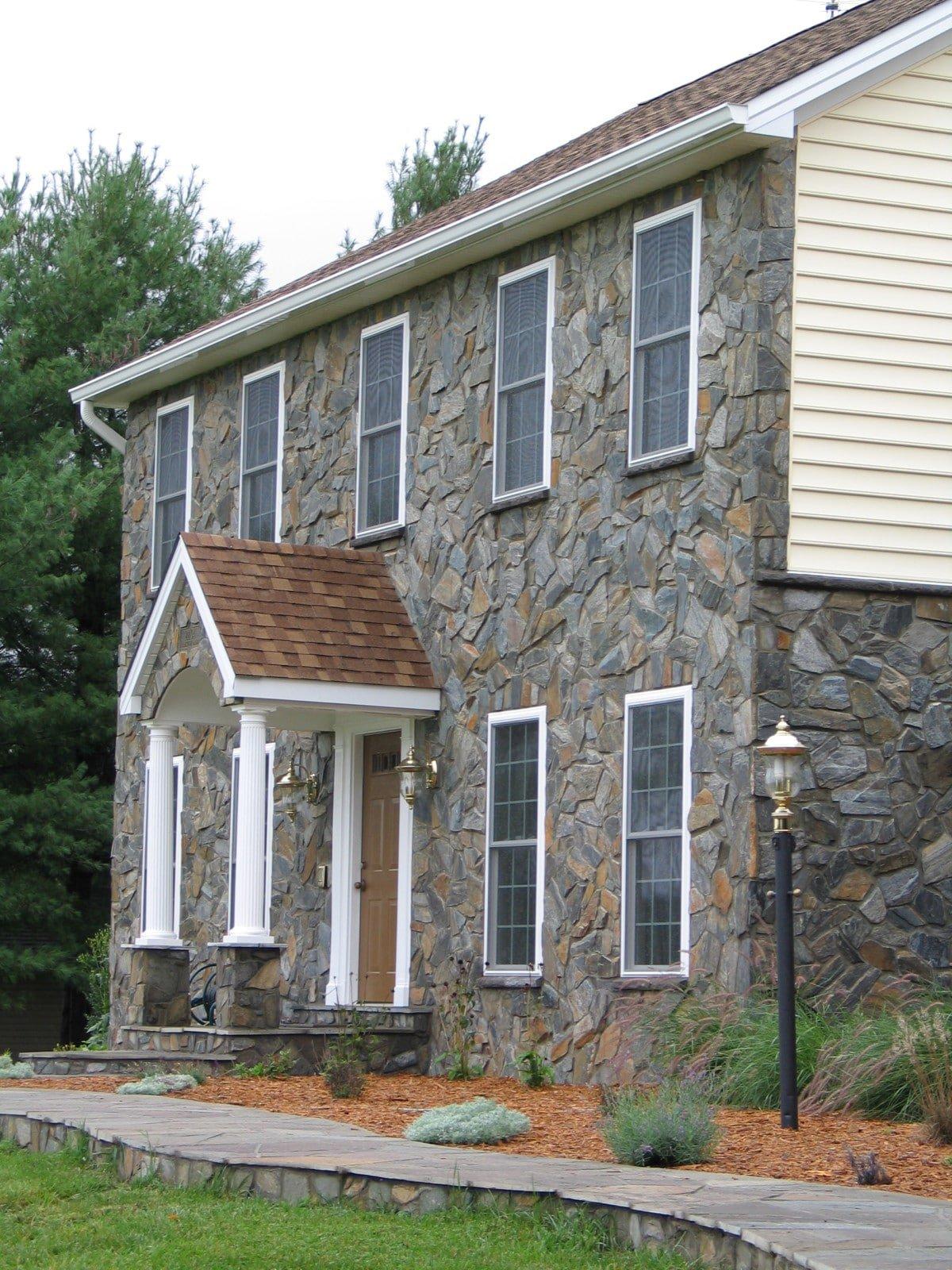 stone facade house