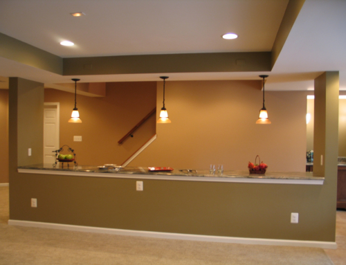 Fallston Structural Beam Basement