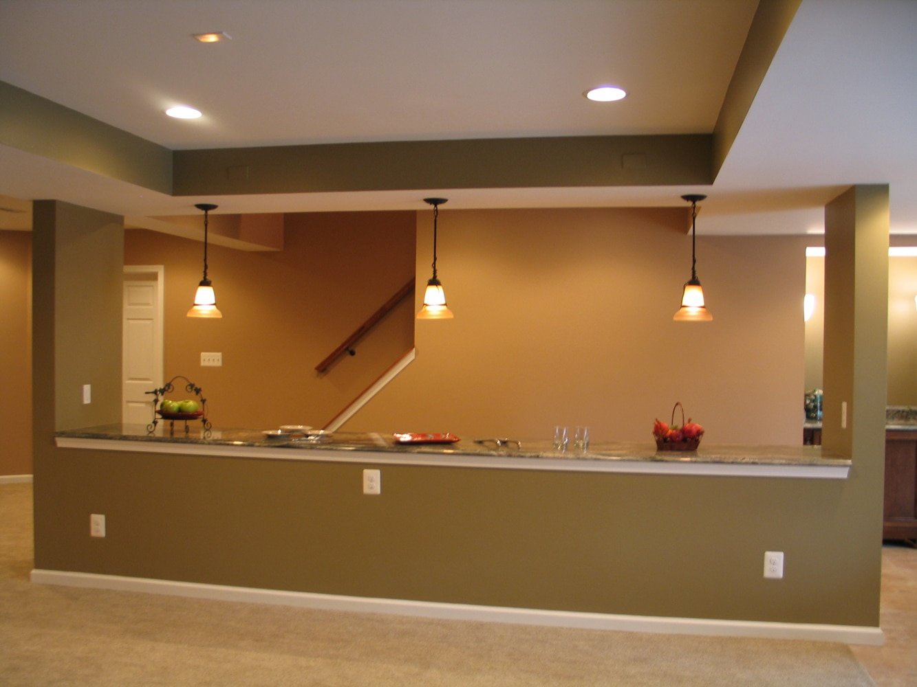 Finished Basement Remodel In Fallston With Unique