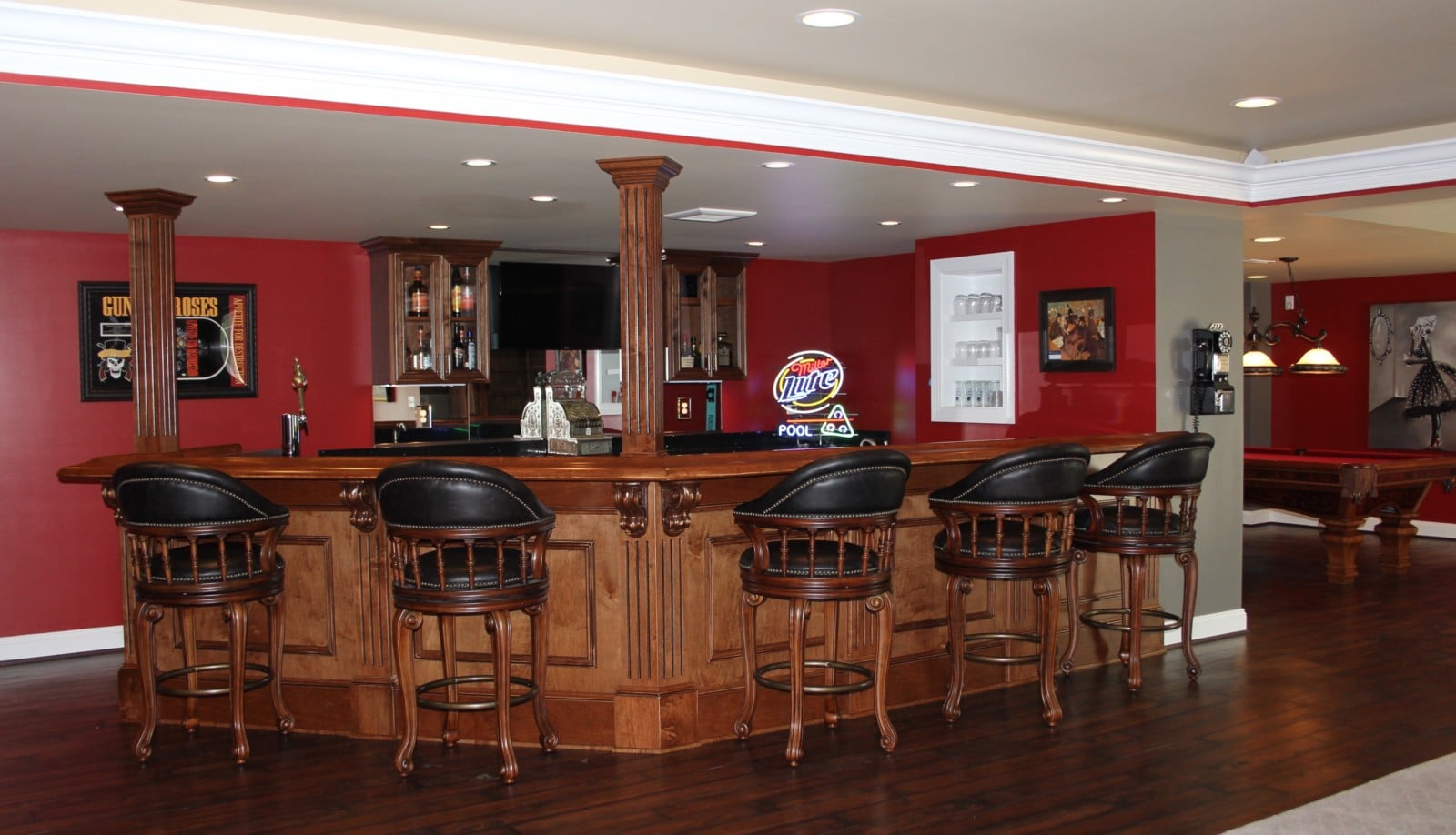 Finished Basement Custom Bar Taylor Made Custom