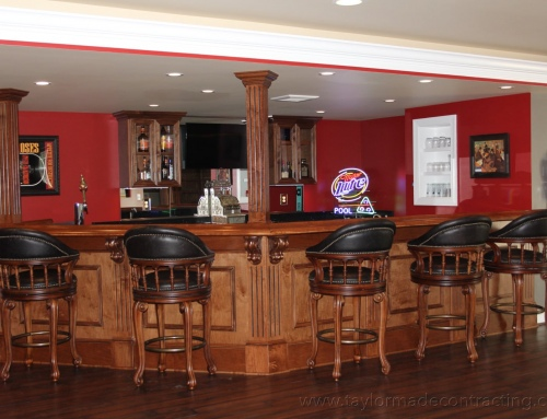 Perry Hall Finished Basement with Completely Custom Bar Area