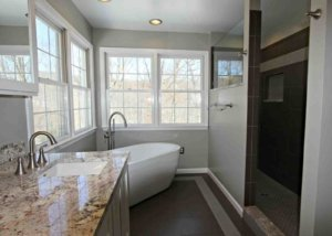 Home Bathroom Remodel with Freestanding Tub
