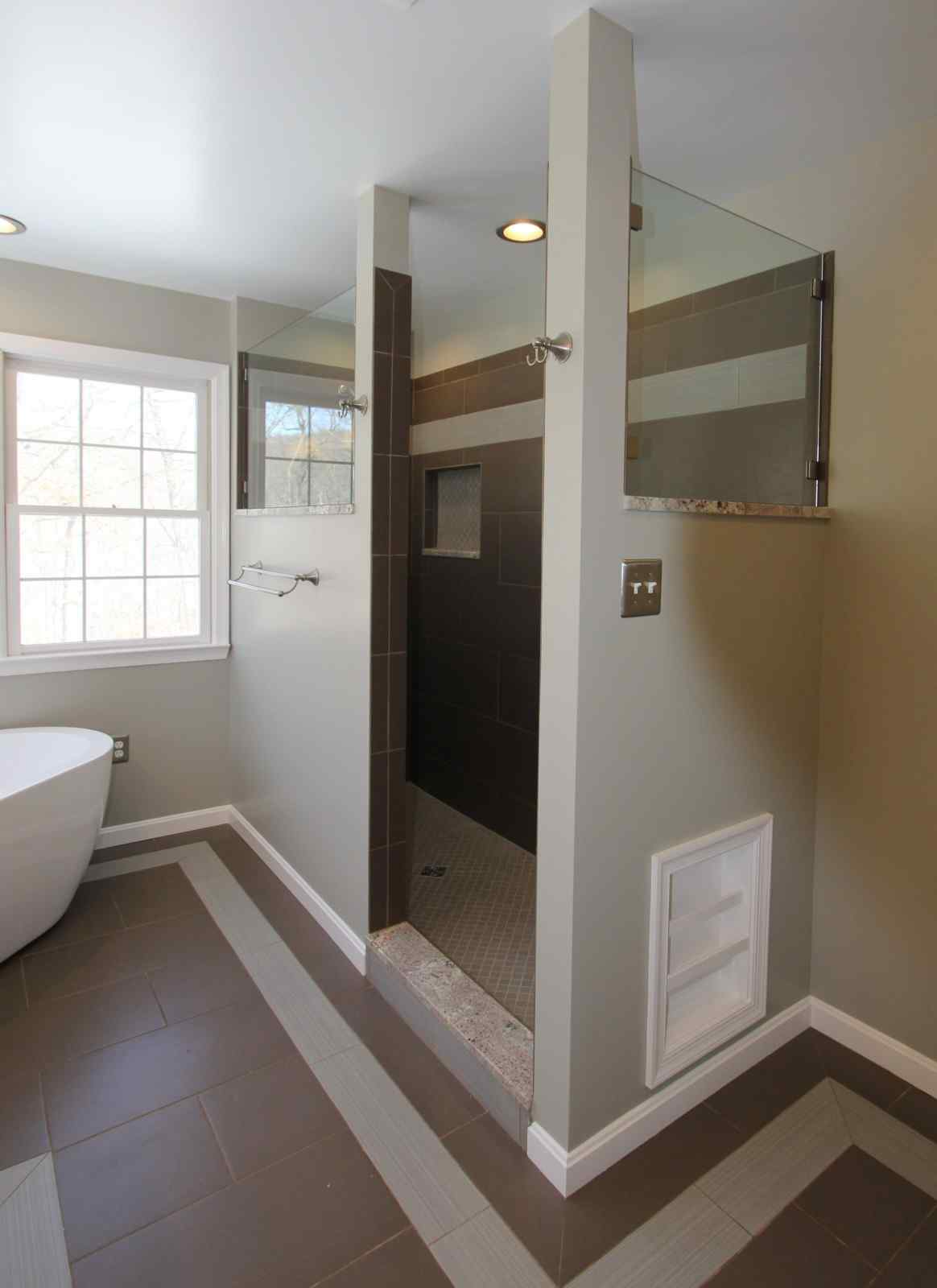remodeled bathroom with walk-in tub
