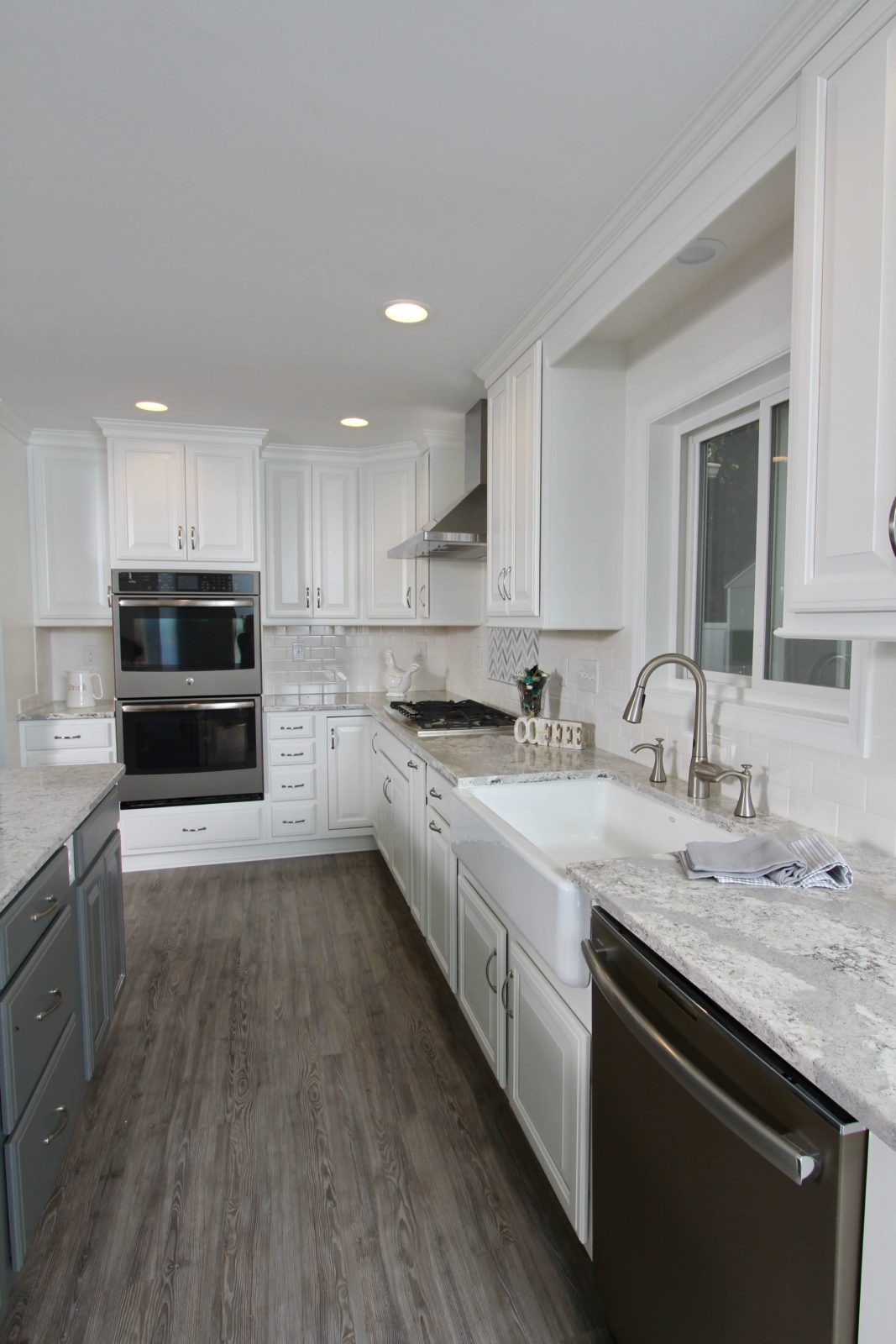 White and Gray Cabinets