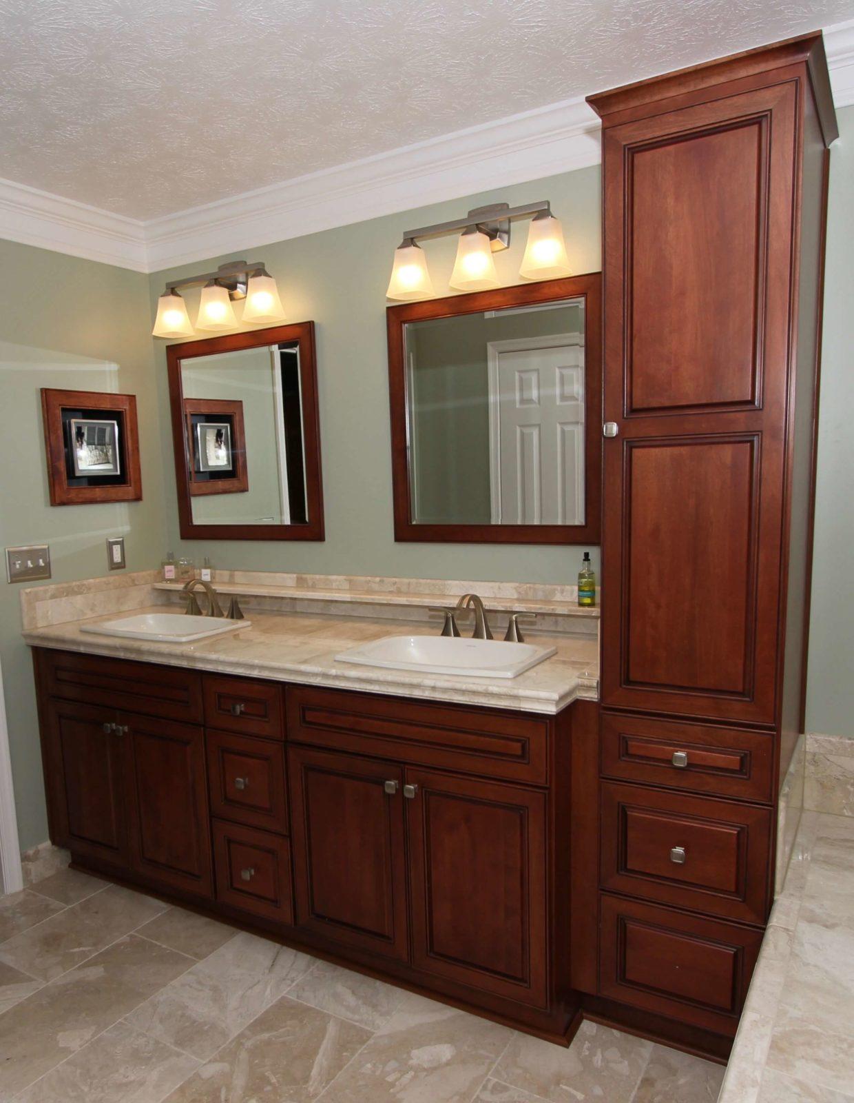 linen closet vanity