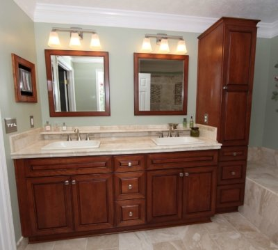 traditional double vanity