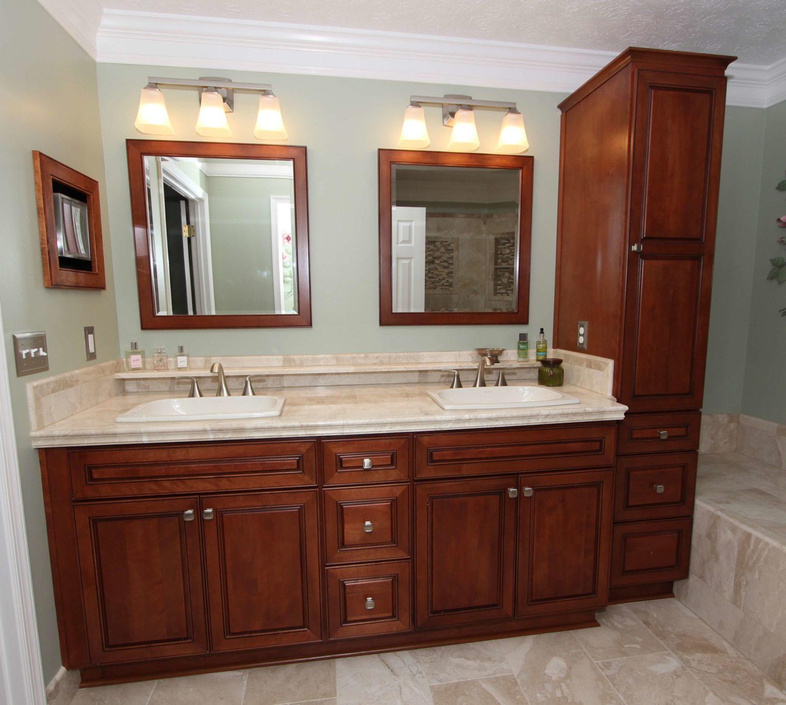 traditional double vanity