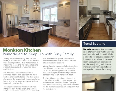 Monkton Kitchen Remodel – Spotlight In Our Print Newsletter