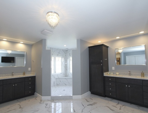 Reisterstown Sauna & Marble Stylish Master Bathroom