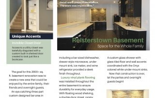 Reisterstown basement newsletter