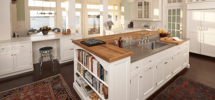 Open Cabinet Kitchen Island